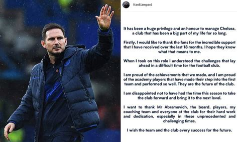 Frank Lampard breaks his silence with grace and thanks ...