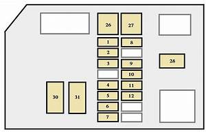 Toyota 4runner  1996 - 1997  - Fuse Box Diagram