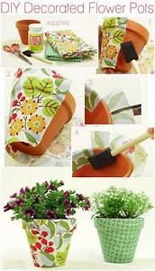 Pinterest Bricolage Jardin : diy decorated flower pots deco jardin pinterest ~ Melissatoandfro.com Idées de Décoration