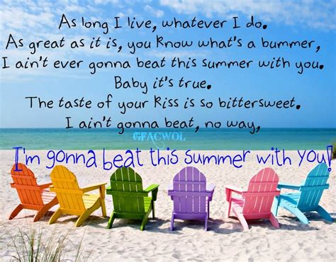 summertime country song quotes