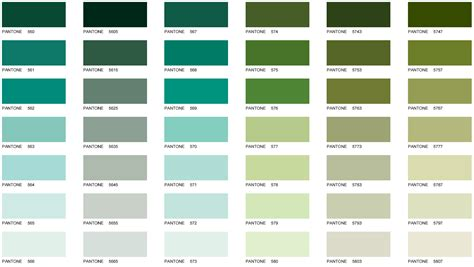 green colors names pantone color chart galaxy business products