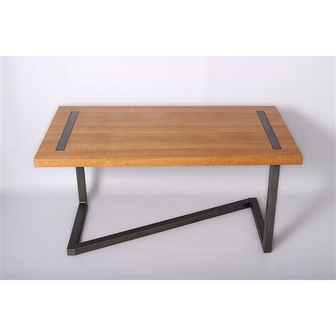 bureau en acier bureau design en bois et acier gris de la marque barnabé à
