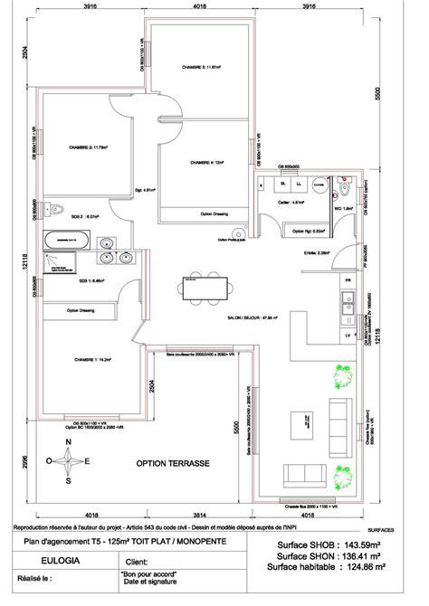plan maison 3 chambres cuisine adorablement plan maison plain pied plan maison