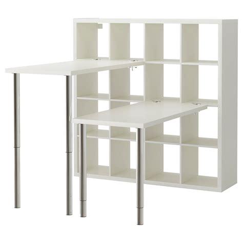 etagere de bureau ikea kallax desk combination white 147x147 cm ikea