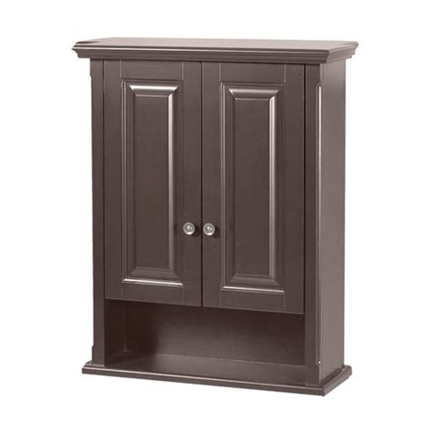 foremost 23 quot palermo bathroom wall cabinet espresso