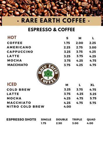 Order from earthlings coffee workshop online or via mobile app we will deliver it to your home or office check menu, ratings and reviews pay online or cash on delivery. Drink Menu