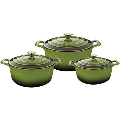 cuisine pro la cuisine pro cast iron casserole set with enamel