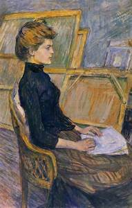 Helene Vary In The Study By Toulouse Lautrec Toulouse