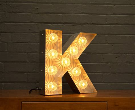 light up marquee letters light up marquee bulb letters k by goodwin goodwin 23443