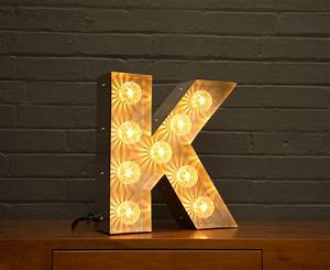 light up marquee bulb letters k by goodwin goodwin With light up letter k