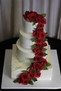 Red & White Wedding Cakes | Stylish Eve