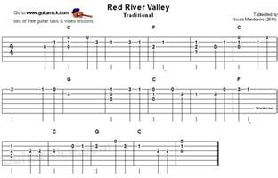 Red River Valley Guitar Tab