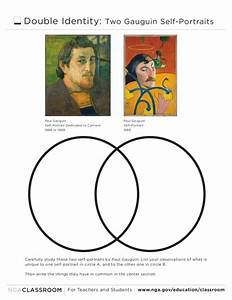 Venn Diagram  Gauguin Self-portraits Graphic Organizer For 3rd