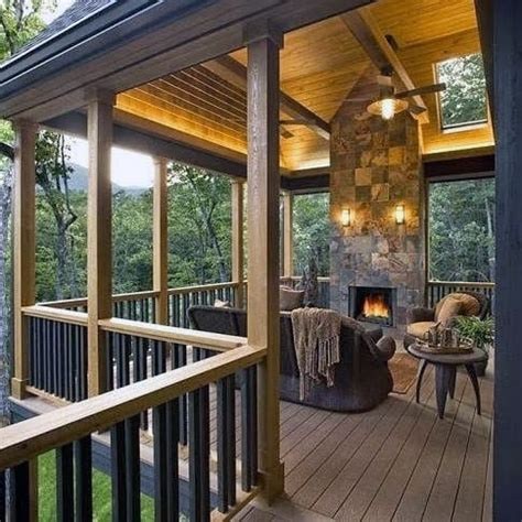roof deck covered outdoor decks designs porch areas patio balcony porches country backyard living nextluxury space glass plans fireplace rooms