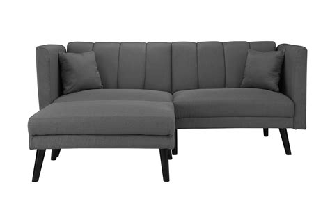 Loveseat With Chaise Lounge by Esme Mid Century 2 Seater Sleeper Sofamania