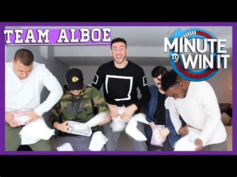 Epic Minute To Win It Challenge Ft Team Alboe Youtube
