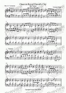 Once in Royal David's City for keyboard - Download Sheet ...