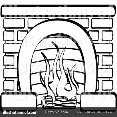 Fireplace Clipart Illustration Fireplaces Nortnik Rf Andy