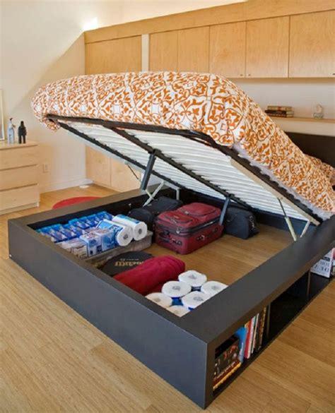 build  queen size platform bed  storage