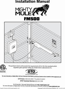 Mighty Mule Gate Opener Troubleshooting
