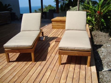 teak outdoor peninsula chaise lounge chairs costa rican