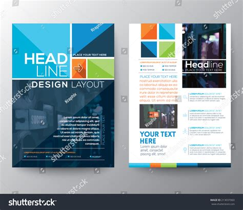 best size for a logo template vector brochure flyer design layout template stock vector