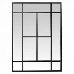 Miroir Rectangulaire Pas Cher : miroir metal noir ~ Teatrodelosmanantiales.com Idées de Décoration