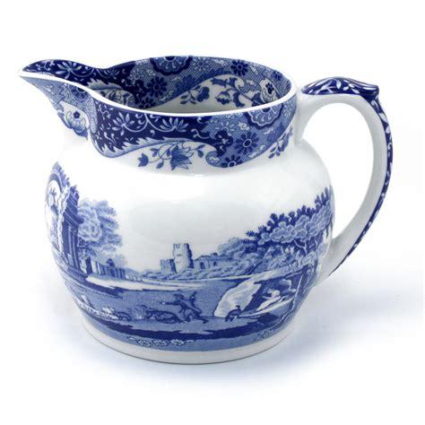 milk pitcher 1259 blue spode blue italian milk jug 39 s of kensington