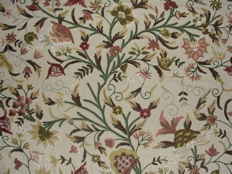 Crewel Upholstery Fabric by Crewel Fabric Tree Of Classic Multicolor Cotton Duck