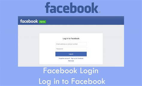 Log Into Facebook
