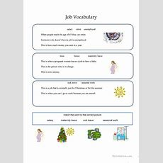 Job Vocabulary Different Activities Worksheet  Free Esl Printable Worksheets Made By Teachers