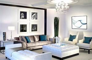 Black, And, White, Living, Rooms, Design, Ideas