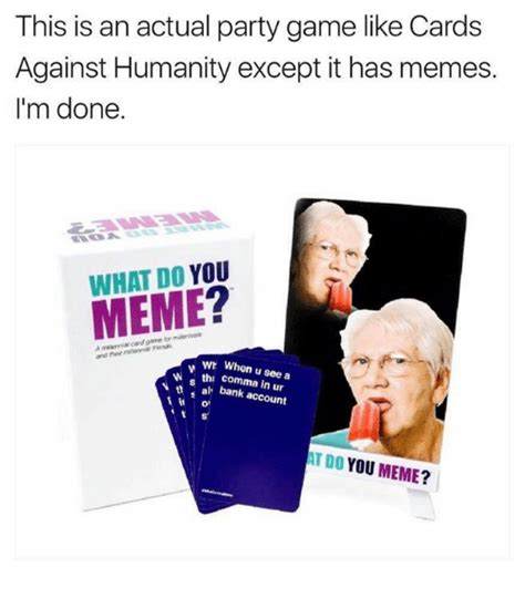 Cards Against Humanity Memes - 25 best memes about comma comma memes