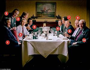 Ten dukes-a-dining: Gathered together over lunch for a ...