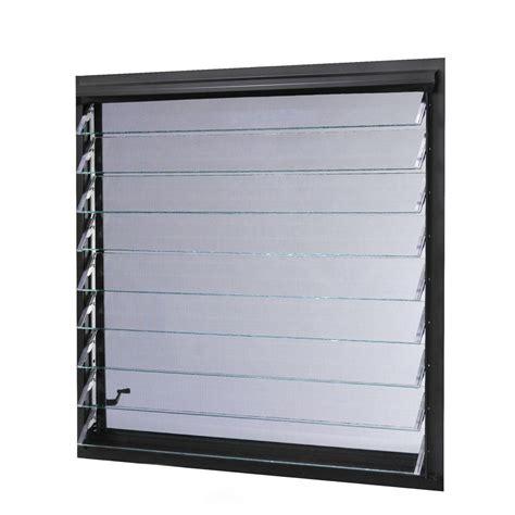 tafco windows      jalousie utility louver awning aluminum screen window  bronze