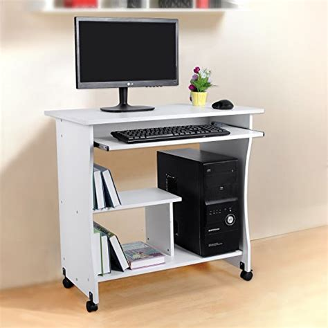 ran pour ordinateur de bureau songmics bureau informatique roulant table informatique