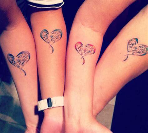 sisters   mother   heart tattooed henna tattoos