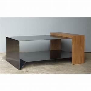 Table Basse Bois Metal : table basse en m tal et bois konnect atelier mobibois ~ Teatrodelosmanantiales.com Idées de Décoration