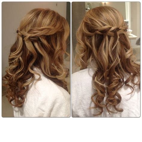bridesmaid hair half up curly lovely hairstyle