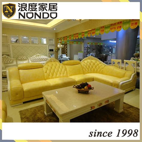Yellow Leather Sofa Set by Yellow Leather Sofa Set Modern Yellow Sectional Sofa Vg 4