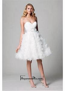 adorable organza satin ball gown strapless sweetheart With empire waist short wedding dress