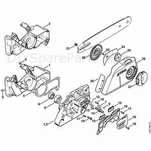 Stihl 026 Chainsaw  026c  Parts Diagram  Quick Chain Tensioner