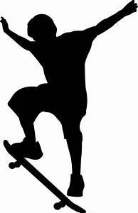 Image Gallery skateboard silhouette