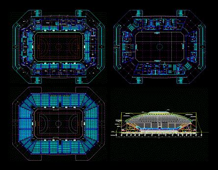 stadium  autocad cad   mb bibliocad