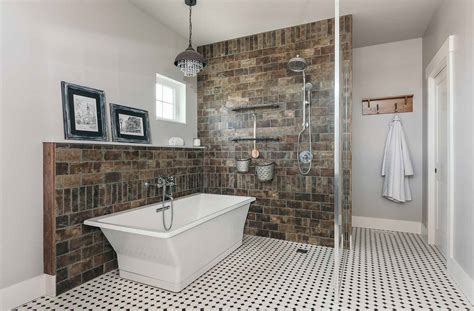 industrial farmhouse bathroom tile shower or a soak is a shower tub or combo best for you Industrial Farmhouse Bathroom Tile