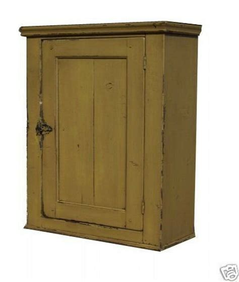 Primitive Wall Cabinet by Primitive Country Painted Wall Cabinet Reproduction