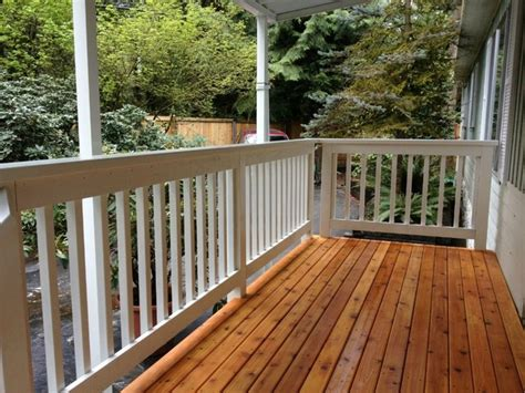 front porch rebuild craftsman porch seattle by