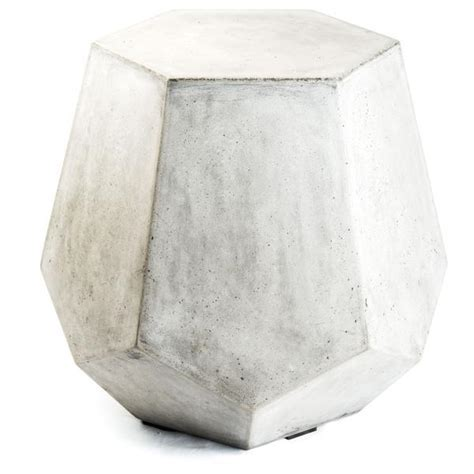 Sculpted White Drum Side Table