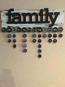 family birthday calendar DO IT YOURSELF KIT includes 6x24