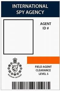 i do on a dime 007 spy patry 7th birthday With spy id card template